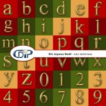 Kit « Joyeux noel » - 09 - Lettrines
