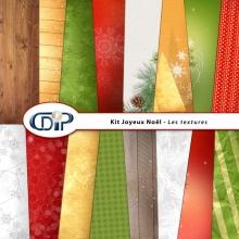 Kit « Joyeux noel » - 01 - Les textures