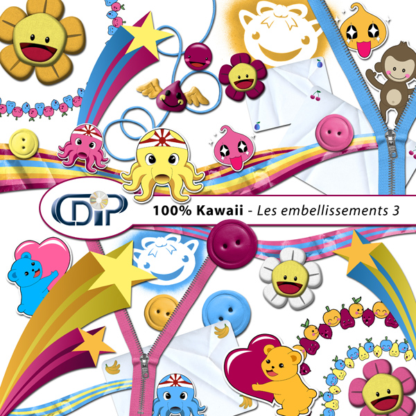 Kit « Kawaii » - 04 - Les embellissements 3