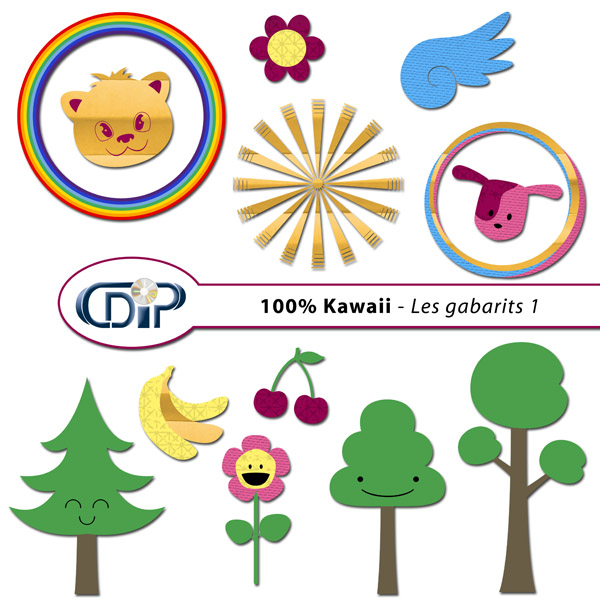 Kit « Kawaii » - 05 - Les gabarits 1