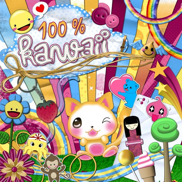« Kawaii » digital kit - 00 - Presentation