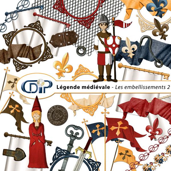 Kit « Légende médiévale » - 03 - Les embellissements 2