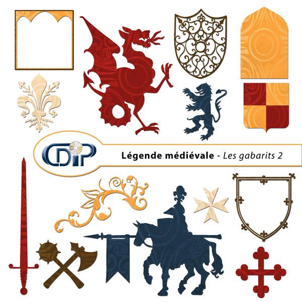 Kit « Légende médiévale » - 06 - Les gabarits 2