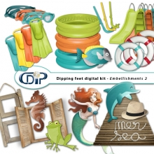 """Dipping Feet in Water"" digital kit - 03 - Embellishments 2"