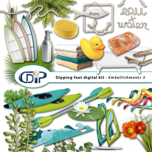 """Dipping Feet in Water"" digital kit - 04 - Embellishments 3"