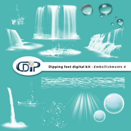 """Dipping Feet in Water"" digital kit - 05 - Embellishments 4"