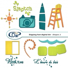 """Dipping Feet in Water"" digital kit - 07 - Shapes 2"