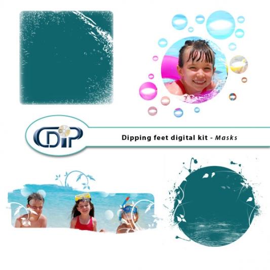"""Dipping Feet in Water"" digital kit - 09 - Masks"