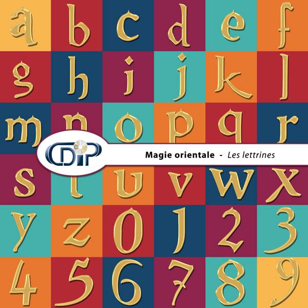 Kit « Magie orientale » - 07 - Les lettrines