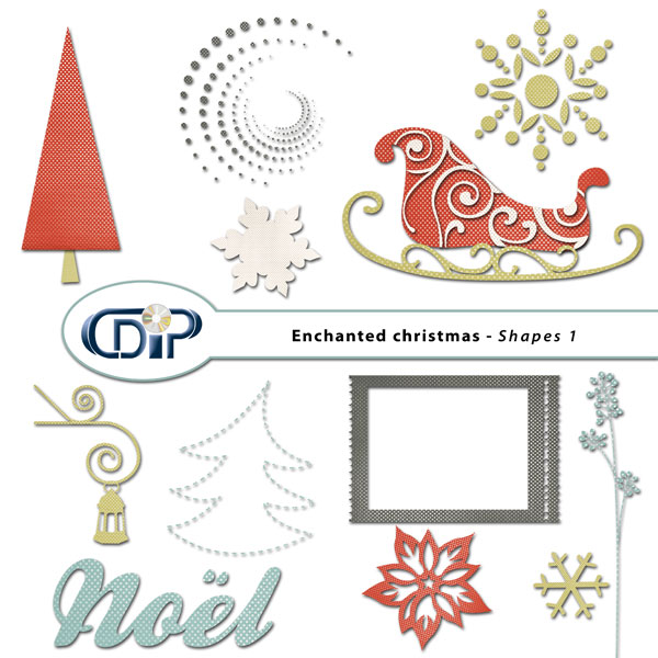 """Enchanted Christmas"" digital kit - 05 - Shapes 1"