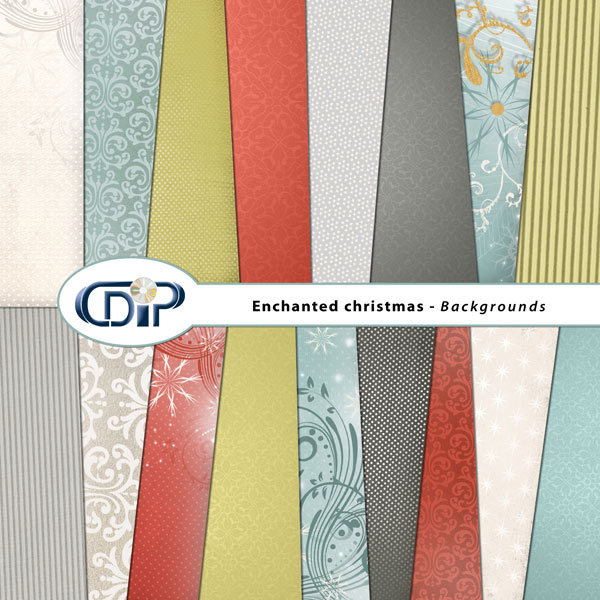 """Enchanted Christmas"" digital kit - 01 - Backgrounds"