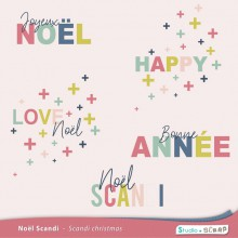 noel scandi embellissements wordart