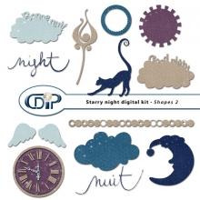 """Starry Night"" digital kit - 06 - Shapes 2"