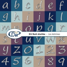 Kit « Nuit étoilée » - 07 - Les lettrines