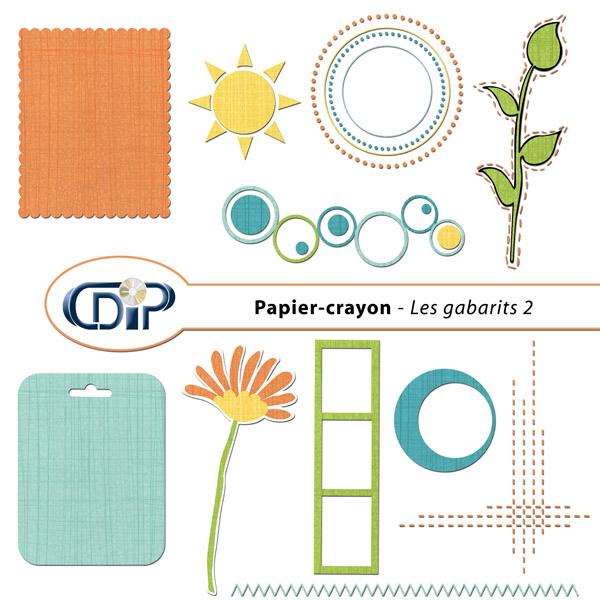 Kit « Papier crayon » - 06 - Les gabarits 2