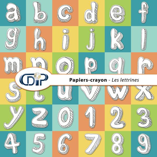 Kit « Papier crayon » - 07 - Les lettrines