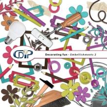 """Decorating fun"" digital kit - 03 - Embellishments 2"