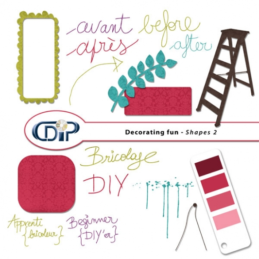 """Decorating fun"" digital kit - 06 - Shapes 2"
