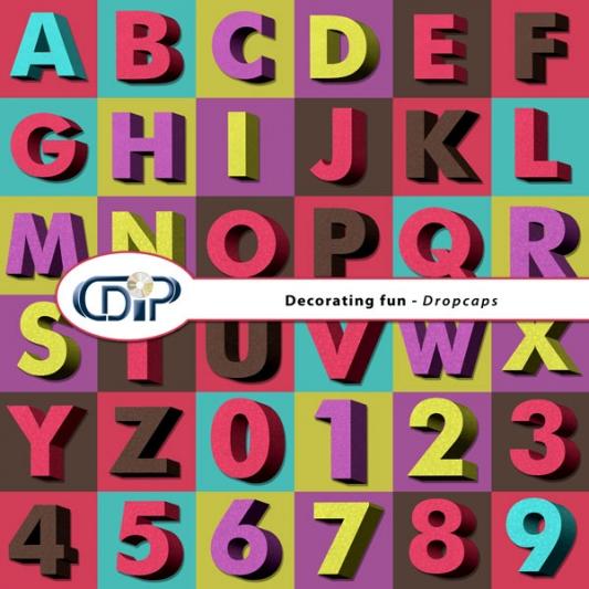 """""""Decorating fun"""" digital kit - 07 - Dropcaps"""
