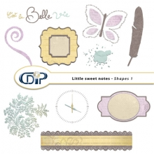 Little sweet notes kit shapes 1