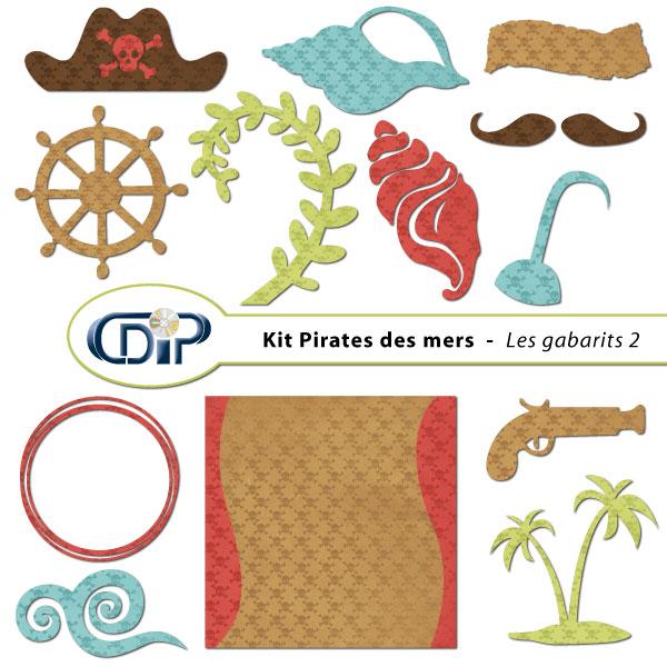 Kit « Pirates des mers » - 06 - Les gabarits 2