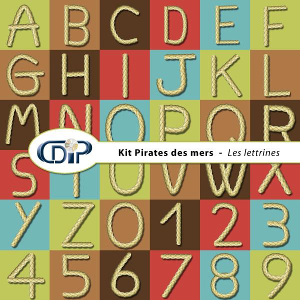 Kit « Pirates des mers » - 07 - Les lettrines
