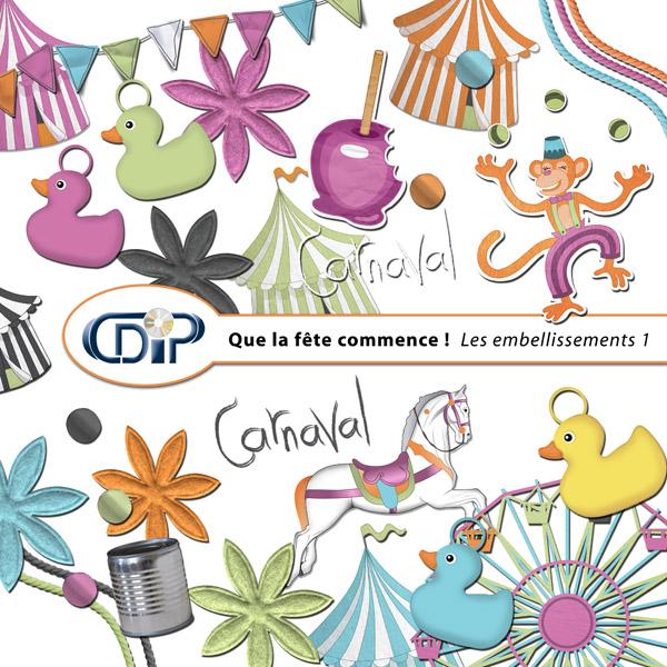 Kit « Que la fête commence » - 02 - Les embellissements 1
