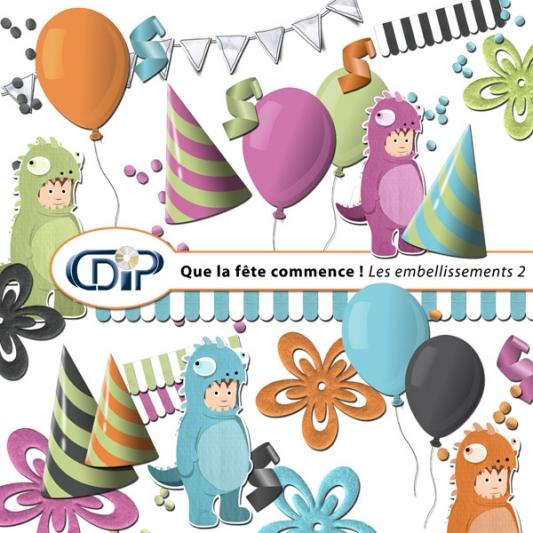 Kit « Que la fête commence » - 03 - Les embellissements 2