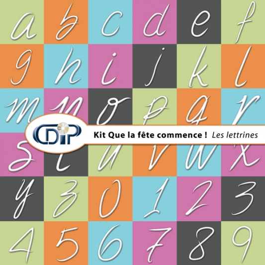 Kit « Que la fête commence » - 07 - Les lettrines