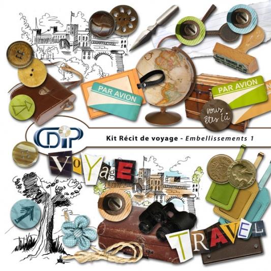 Kit « Récit de voyage » - 02 - Les embellissements 1
