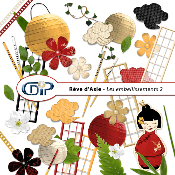 Kit « Rêve d'asie »  - 03 - Les embellissements 2