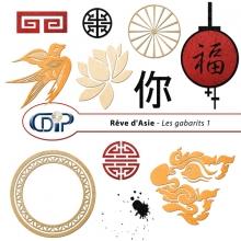Kit « Rêve d'asie »  - 05 - Les gabarits 1