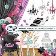 """""""Ballerina Dream"""" digital kit - 02 - Embellishments 1"""