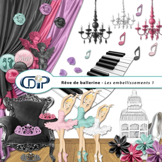 Kit « Rêve de ballerine » - 02 - Les embellissements 1