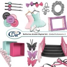 """""""Ballerina Dream"""" digital kit - 03 - Embellishments 2"""