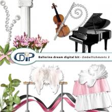 """""""Ballerina Dream"""" digital kit - 04 - Embellishments 3"""