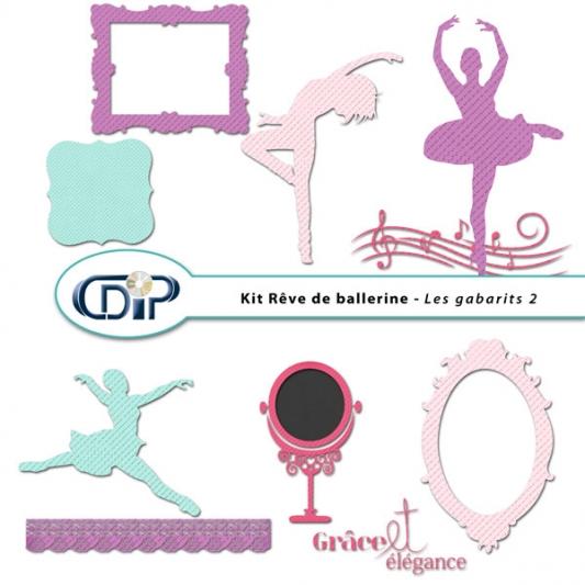 Kit « Rêve de ballerine » - 07 - Les gabarits 2