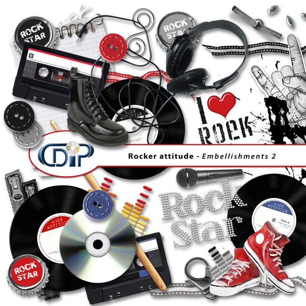 """Rocker attitude"" digital kit - 03 - Embellishments 2"