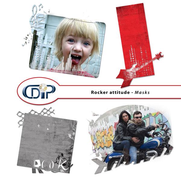 """""""Rocker attitude"""" digital kit - 08 - Masks"""