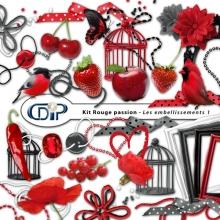 Kit « Rouge passion » - 02 - Les embellissements 1
