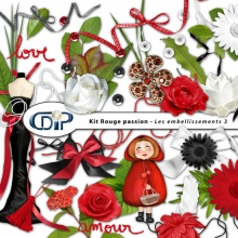 Kit « Rouge passion » - 04 - Les embellissements 3