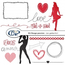 Kit « Rouge passion » - 06 - Les gabarits 1