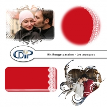 Kit « Rouge passion » - 09 - Masques