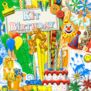 « Birthday » digital kit - 00 - Presentation