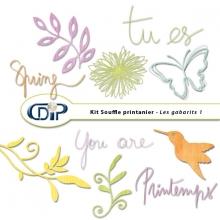 Kit « Souffle printanier » - 06 - Les gabarits 1