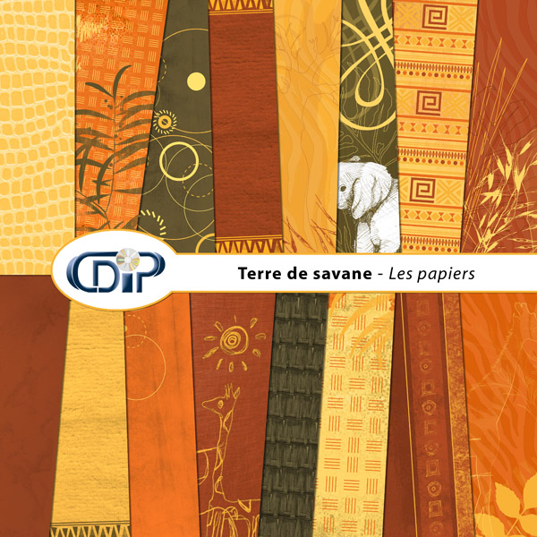 Kit « Terre de savane » - 01 - Les textures