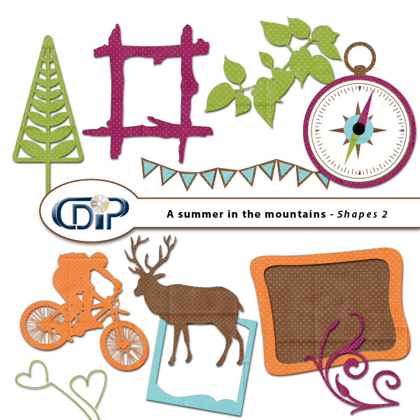 """A Summer in the Mountains"" digital kit - 06 - Shapes 2"