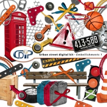 """Urban Street"" digital kit - 02 - Embellishments 1"