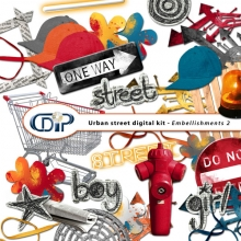 """Urban Street"" digital kit - 03 - Embellishments 2"