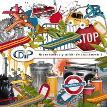 """""""Urban Street"""" digital kit - 04 - Embellishments 3"""